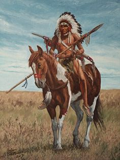 Native American Horses, Native American Paintings, Native American Pictures, Indian Pictures, Native American Artists, Native American History, American Indians, Indian Horses, West Art