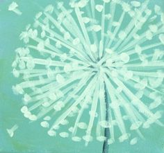 Dandelion Painting - paint with qtip and pencil eraser?