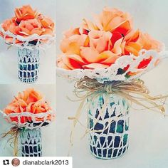 Reposting @dianabclark2013: For this evening, I would like to present this unique Shabby Chic design which is handmade of beautiful silk Peach Roses www.creativedesignsbydiana.com designsbydiana2016.patternbyetsy.com #etsy #tuesday #homestyling #romantic