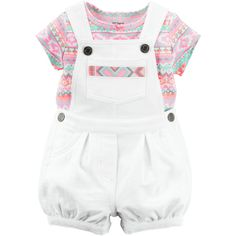 2-Piece Tee Shortalls Set (765 RUB) ❤ liked on Polyvore featuring baby girl