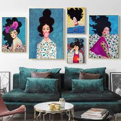 Living Room Pictures, Wall Pictures, Living Room Canvas Painting, Types Of Art Styles, Nordic Art, Bird Wall Art, Flower Bird, Fashion Wall Art, Rooms Home Decor