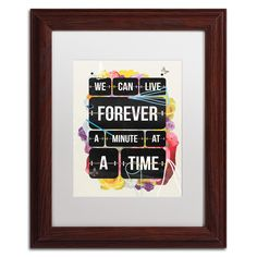 Time of Your Life by Kavan & Co Matted Framed Graphic Art