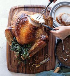 Pancetta-Sage Turkey with Pancetta-Sage Gravy Recipe   Epicurious.com