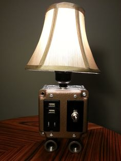 Steam Punk USB charger and lamp combination by BossLamps on Etsy, $125.00