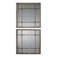 Saragano Square Mirrors, Set of 2