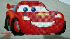 Cars hama beads by Hama Beads Disney, Perler Beads, Perler Bead Disney, Hama Beads Minecraft, Fuse Beads, Disney Cars, Cute Crafts, Bead Crafts, Pixar