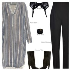 """""""Untitled #2937"""" by amberelb ❤ liked on Polyvore featuring Haider Ackermann, Raquel Allegra, Alexander Wang and La Perla"""