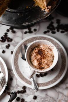 Vanilla Cappuccino Cake + White Chocolate Espresso Frosting