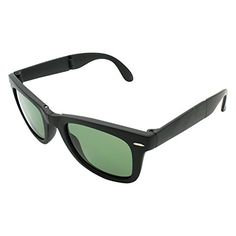 58ed3d0d78 Zerkso SunglassesColours Mens Foldable Wayfarer Polarized Black Matte Frames  Green Lens    You can get additional details at the image link.