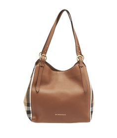 Burberry House Check & Brown Leather Tote