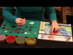 Knitting with antique beads - YouTube