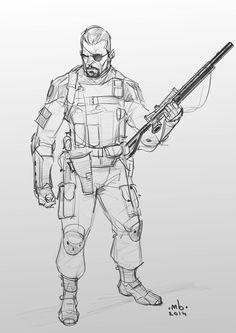 Borislav Mitkov - Illustration/Concept Art: Random character sketch 01