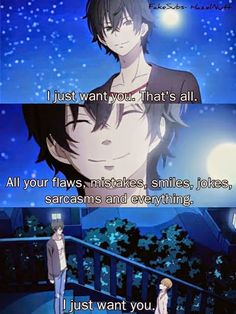 Accept the person who they are <3Anime = My Little Monster