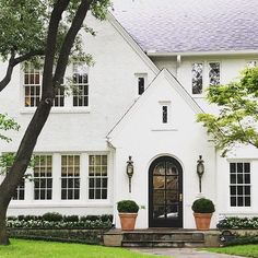 white painted exterior