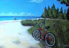 """Bicycle On Beach"" by Melinda Saminski"