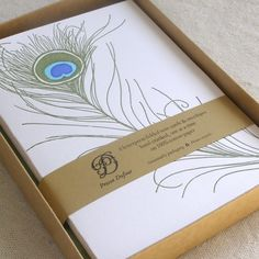 peacock feather cards/envelops?!