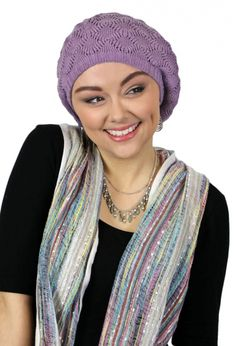 febf46939a1 Echo Design Pointelle Slouchy Knit Hat. Chemo BeaniesGifts For Cancer  PatientsCotton ...