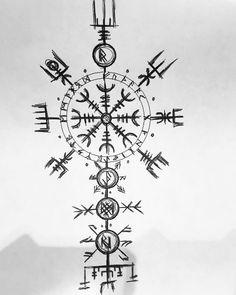 Next proyect 👊😎🤙 ⚓️🛶⚓️ #nordic #vikings #vikingstattoo #tattoo #valhalla Viking Compass Tattoo, Viking Tattoo Symbol, Norse Tattoo, Viking Tattoo Design, Celtic Tattoos, Viking Tattoos, Tattoo Symbols, Armor Tattoo, Warrior Tattoos