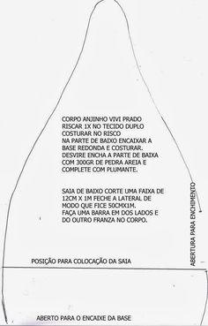 Molde Anjinho (Boneca de Pano) ~ Vivi Prado