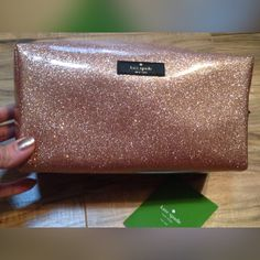 [sale!] Terrace Street Davie Bag Rose Gold Absolutely gorgeous, perfect NWOT never-used condition. Large size with pocket inside for smaller cosmetic items. Comes stuffed with tissue, removed only for pictures. kate spade Bags Cosmetic Bags & Cases