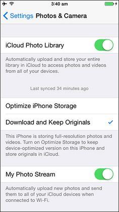 Optimize iPhone storage - iOS 8