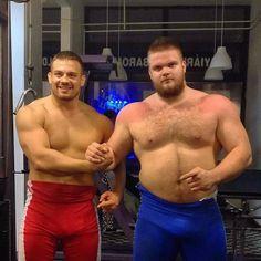Erőemelő barátommal  #powerlifter #vs #wrestler #118kg #135kg