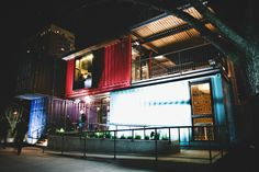 The Coolest Bar in Texas is Built With Seven Stacked Shipping Containers | Inhabitat - Sustainable Design Innovation, Eco Architecture, Green Building