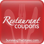 The TOP Restaurant Coupons available to use this weekend from the STS Restaurant Coupons Database!!