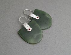 Neke Moa Pae pae pounamu earrings