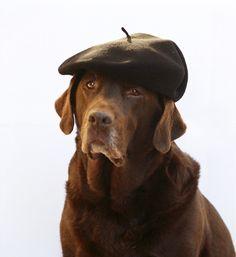 Men's beret ropeysoles.com modelled by Digger