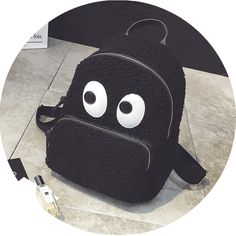 Mori Girl Backpack on Mori Girl の森ガール.Kawaii Cartoon Plush Backpack Korean Cute Big Eyes Bags Mg360 catches up with the cute style.Get yourself ready to look fashion and keep out the cold on wearing it in the autumn or winter.Don't miss it.