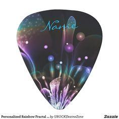 Personalized Rainbow Fractal Custom #Guitar Pick