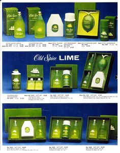 Shulton Old Spice Lime Collection, Print Ad. After Shave Lotion, Old Spice, Vintage Perfume, Print Ads, Deodorant, Shaving, Spices, Perfume Bottles, Old Things