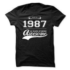 Made in 1987 - 1 - #tshirt quotes #pullover hoodie. CHECK PRICE => https://www.sunfrog.com/Birth-Years/Made-in-1987--1-edsed.html?68278
