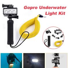 Underwater (40M /98.4ft) Diving LED Video Light 40 M with Floating Strap for GoPro 1, 2, 3, 4