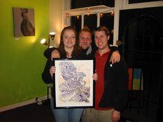 My first professional art show after graduation