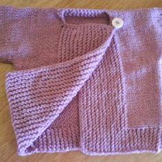 Trico Baby Cardigan Knitting Pattern, Baby Knitting Patterns, Hand Knitting, Baby Shawer, Bebe Baby, Crochet Baby, Knit Crochet, Tricot Baby, How To Purl Knit