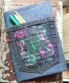 Margot Potter: I Love to Create Recycled Denim Book Covers