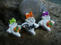 polymer clay ghosts