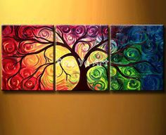 100 Hand Work Modern Abstract Canvas Art Oil Painting No Frame Tree Of Life Painting, Abstract Tree Painting, Oil Painting On Canvas, Abstract Art, Tree Paintings, Painting Art, China Painting, Tree Of Life Artwork, Painting Classes