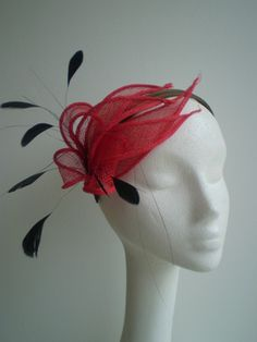 Fascinators are art made of feathers, fabric, straw and anything else a milliner can imagine!