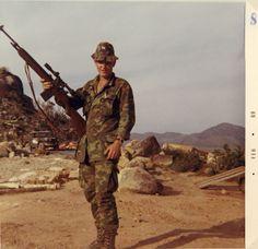 101st Airborne Division sniper, 1969. Vietnam War
