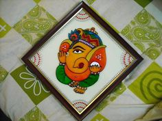[ATTACH] Ganesha :-) my glass painting. I made this around Pongal time this yr. So many people have asked me if i'd sell this painting, but i. Ganesha Painting, Tanjore Painting, Ganesha Drawing, Glass Painting Patterns, Glass Painting Designs, Small Canvas Art, Diy Canvas Art, Painting Of Girl, Fabric Painting