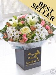Winter Frost Hand-tied With Chocolates Christmas Flower Delivery, Best Flower Delivery, Online Flower Delivery, Flower Delivery Service, Christmas Flowers, Winter Flowers, Valentines Flowers, Mothers Day Flowers, Send Flowers