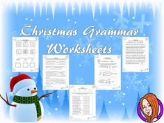 Christmas Grammar WorksheetsThis download includes nine different worksheets with a Christmas theme. This worksheets cover:- Dictionary work- Spellings - Verbs, nouns and adjectives use and recognition - Past, present and future tense- Speech marks use- Comparatives and superlatives- General punctuation useThanks for looking **************************************************************************My other English products: Persuasive Writing Complete Unit .