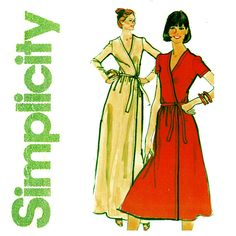 1970s Wrap Dress Pattern Uncut Bust 34 Simplicity by CynicalGirl
