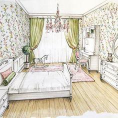 В воздухе уже весна а у меня тут вот такая цветущая комната для девочки