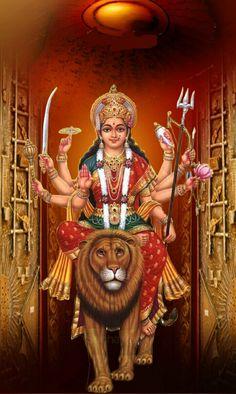 Maa Image, Ambe Maa, Durga Images, Indian Art Paintings, Durga Maa, Goddess Art, Indian Gods, Ganesha, Jay