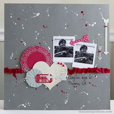 for the Paper Bakery, using the January add-on kit. maryannjenkins.com