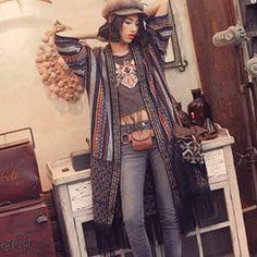 エスニックファッションが好きな人ー! | ガールズちゃんねる - Girls Channel - Kimono Top, Bohemian, Clothes, Tops, Women, Style, Fashion, Outfits, Swag